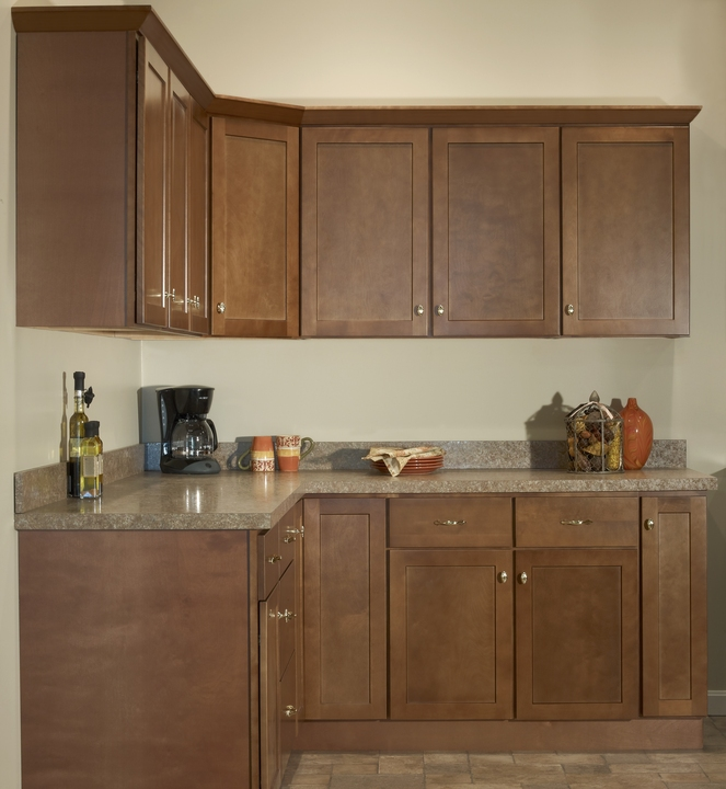 Full Kitchen Cabinet Set: Andover Brown Collection