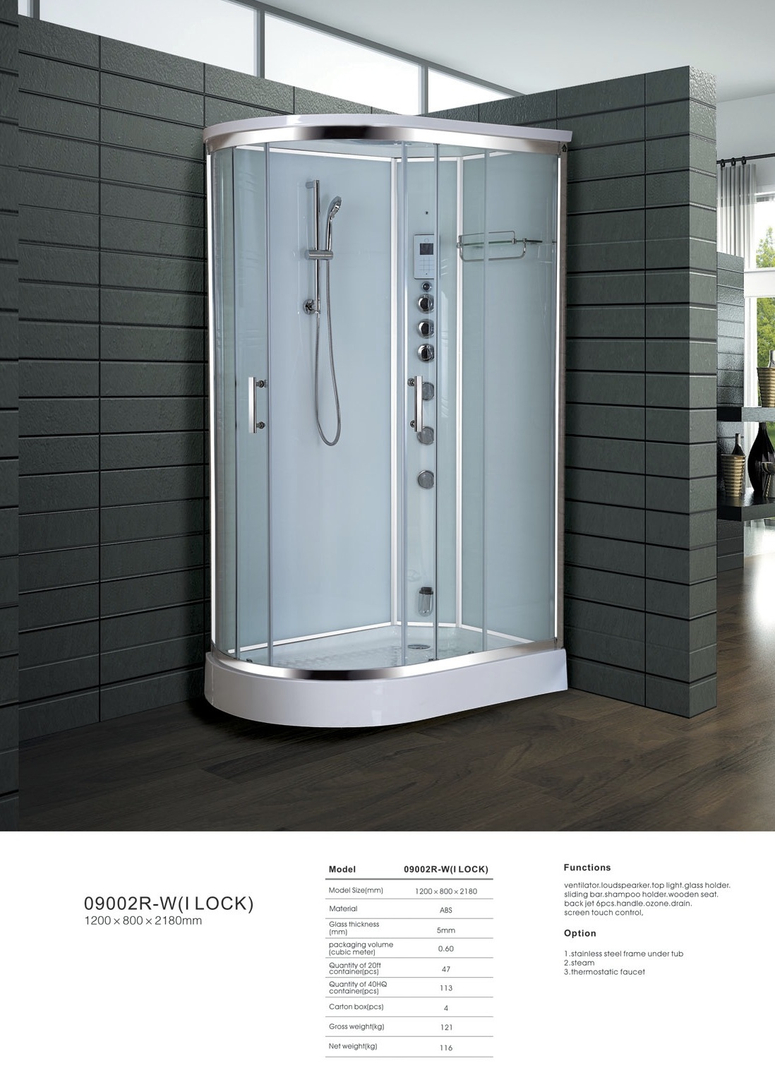 Ipax Cabinets Direct Steam Shower 9002r W