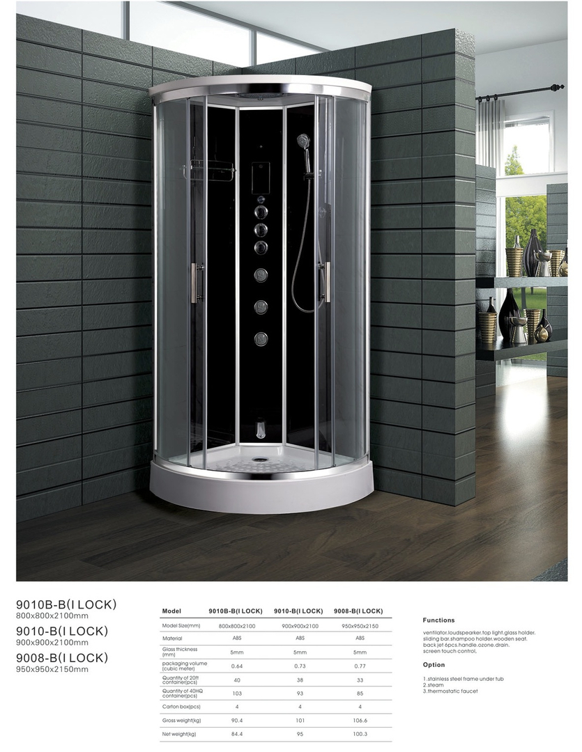 Ipax Cabinets Direct | Steam Shower 9010B-B